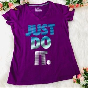 Short sleeve purple Nike just do it t shirt size M